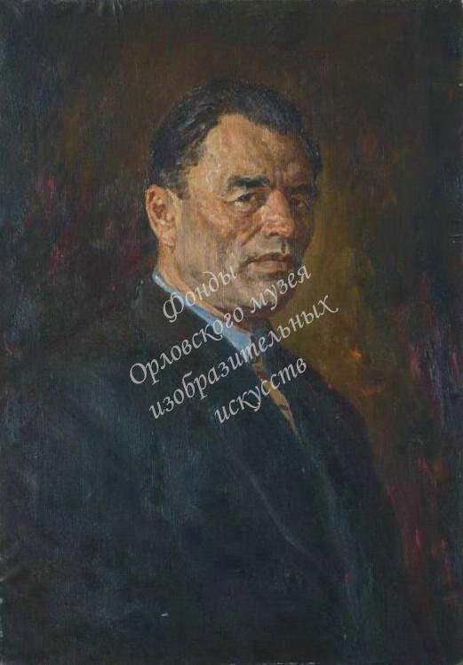 Кривоногов Петр Александрович (1911-1967) «Портрет Героя Советского Союза Гаврилова Петра Михайловича (1900-1979)». 1950-е годы Холст, масло.