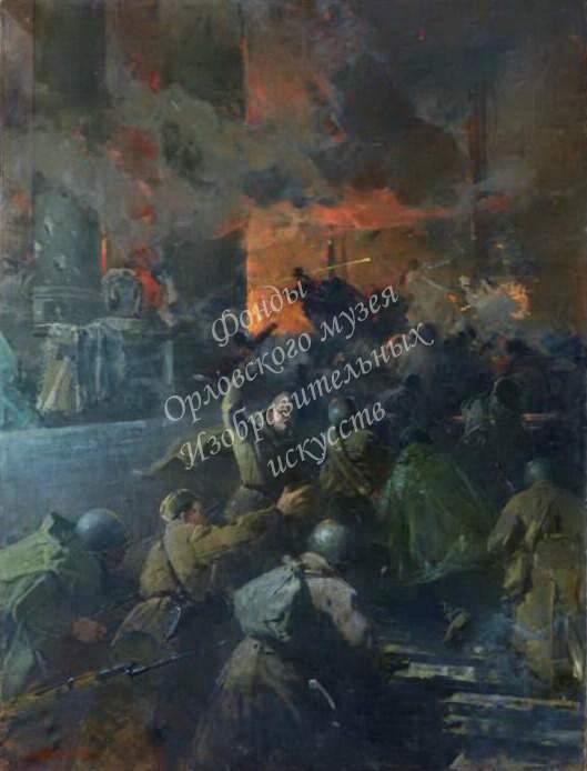 Медведев Василий Николаевич (1919-1980). «Незабываемый 1945 год». 1969 г. Холст, масло.
